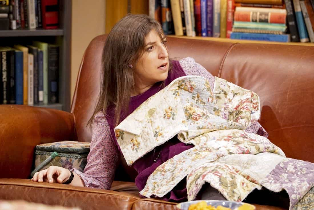"""The Reclusive Potential"" - Pictured: Amy Farrah Fowler (Mayim Bialik). A brilliant but reclusive scientist, Doctor Wolcott (Peter MacNicol), invites Sheldon to his cabin in the middle of nowhere, and Leonard, Raj and Howard go along for the trip. Also, Penny and Bernadette improvise after Amy doesn't like the tame bachelorette party they planned for her, on THE BIG BANG THEORY, Thursday, April 12 (8:00-8:31 PM, ET/PT) on the CBS Television Network. Photo: Bill Inoshita/CBS ©2018 CBS Broadcasting, Inc. All Rights Reserved."