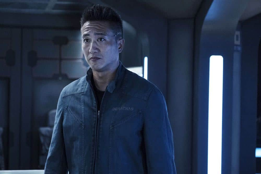 """THE EXPANSE -- """"Fight or Flight"""" Episode 301 -- Pictured: Terry Chen as Prax -- (Photo by: Rafy/Syfy)"""