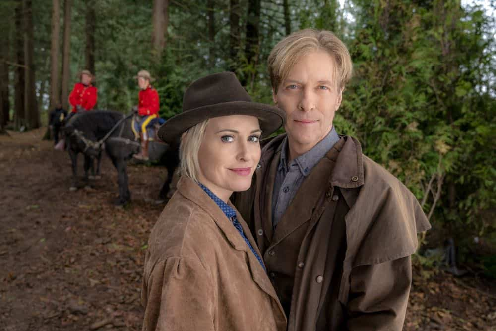 Bill is put in serious jeopardy while transporting AJ to face trial. Abigail tries to save the town from an investor who will hurt Hope Valley. Carson is faced with a life and death medical decision. Elizabeth tries to reunite a mother and her son.  Photo: Josie Bissett,Jack Wagner  Credit: Copyright 2018 Crown Media United States LLC/Photographer: Ricardo Hubbs