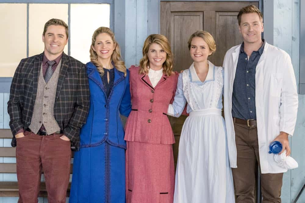 Bill is put in serious jeopardy while transporting AJ to face trial. Abigail tries to save the town from an investor who will hurt Hope Valley. Carson is faced with a life and death medical decision. Elizabeth tries to reunite a mother and her son. Photo: Kavan Smith, Pascale Hutton, Lori Loughlin, Andrea Brooks, Paul Greene Credit: Copyright 2018 Crown Media United States LLC/Photographer: Ricardo Hubbs