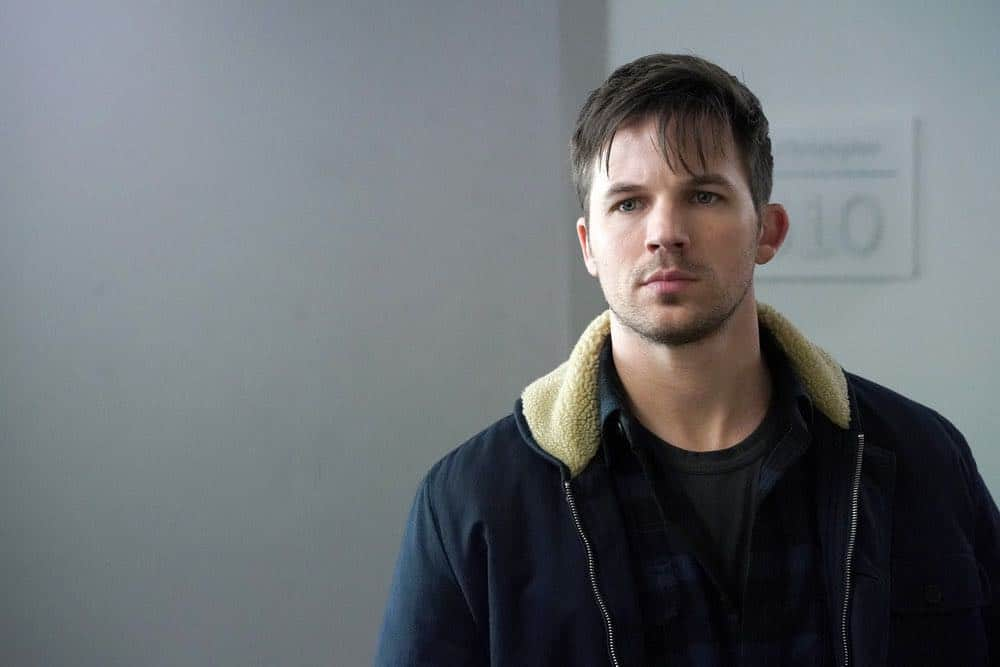 "TIMELESS -- ""The Kennedy Curse"" -- Pictured: Matt Lanter as Wyatt Logan -- (Photo by: Chris Haston/NBC)"