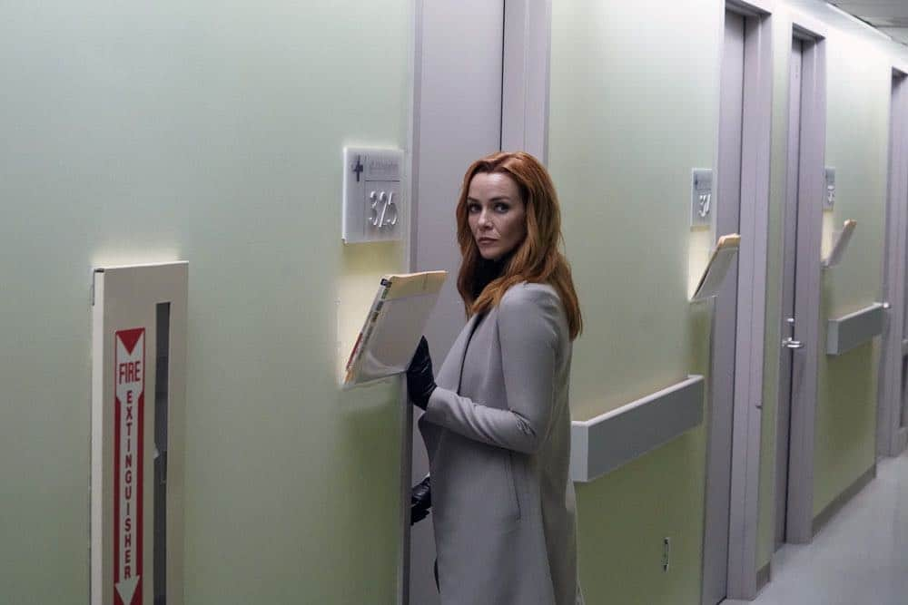 "TIMELESS -- ""The Kennedy Curse"" -- Pictured: Annie Wersching as Emma Whitmore -- (Photo by: Chris Haston/NBC)"