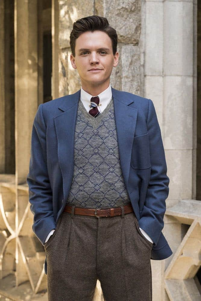"""TIMELESS -- """"The Kennedy Curse"""" Episode 205 -- Pictured: Grant Jordan as JFK -- (Photo by Justin Lubin/NBC)"""