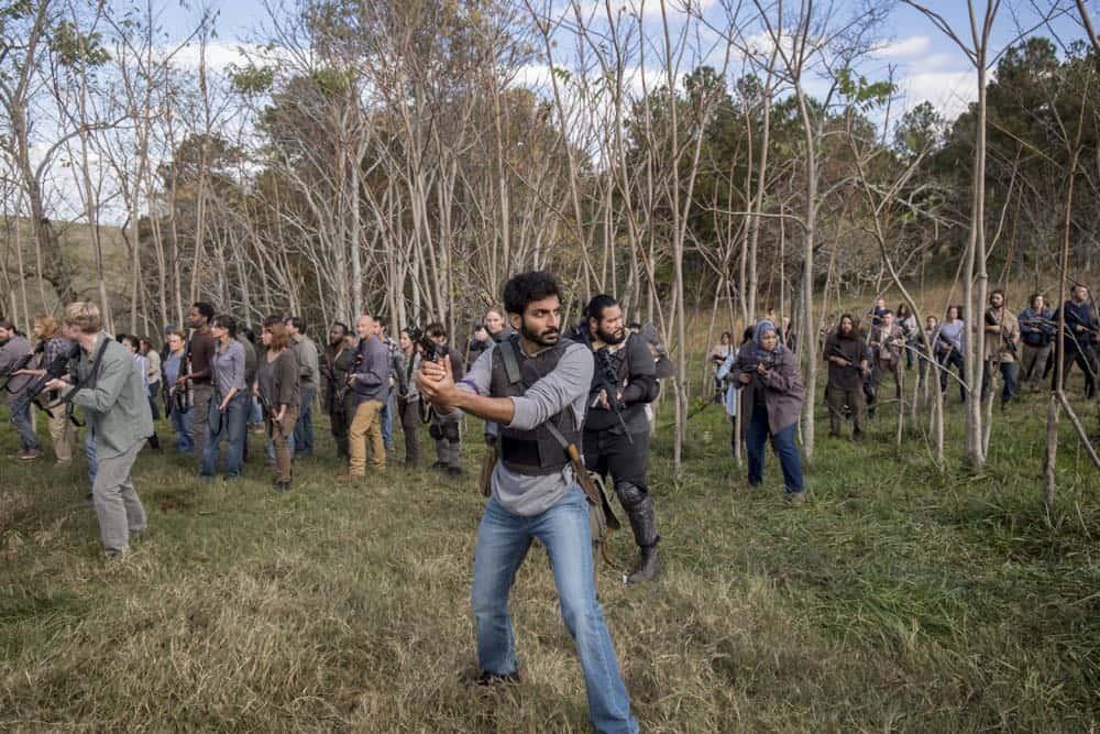Avi Nash as Siddiq, Cooper Andrews as Jerry - The Walking Dead _ Season 8, Episode 16 - Photo Credit: Gene Page/AMC