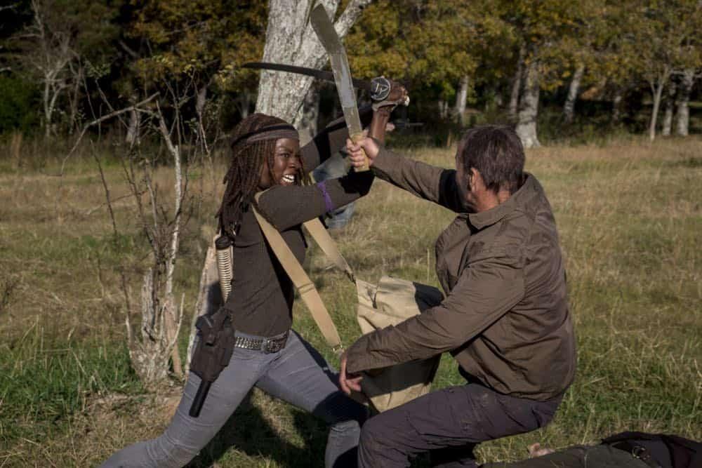 Danai Gurira as Michonne - The Walking Dead _ Season 8, Episode 16 - Photo Credit: Gene Page/AMC