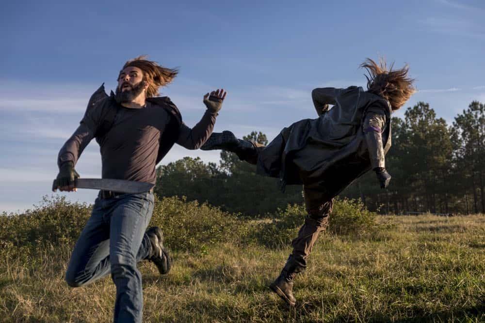 Tom Payne as Paul 'Jesus' Rovia - The Walking Dead _ Season 8, Episode 16 - Photo Credit: Gene Page/AMC