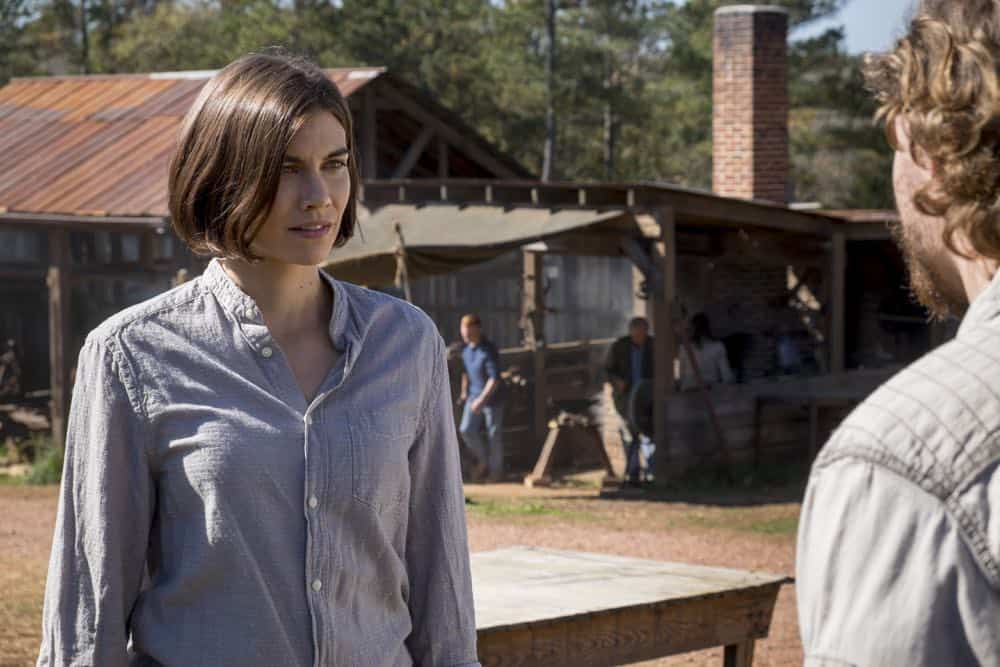 Lauren Cohan as Maggie Rhee, Callan McAuliffe as Alden - The Walking Dead _ Season 8, Episode 16 - Photo Credit: Gene Page/AMC
