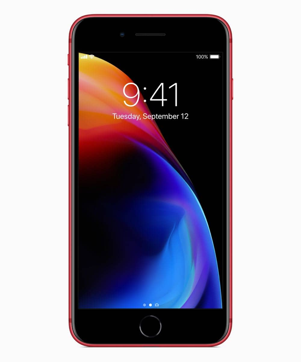 iPhone8PLUS PRODUCT RED front 041018