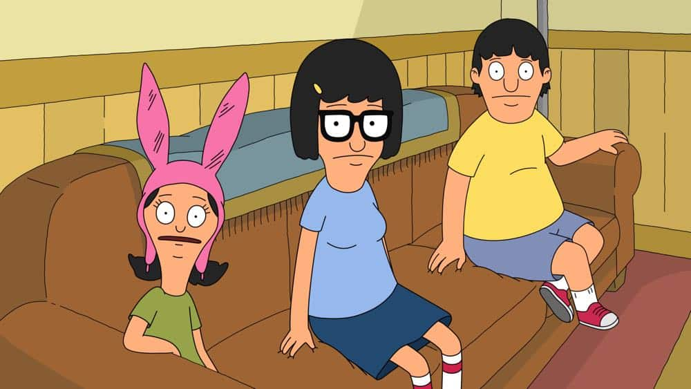 "BOB'S BURGERS: While the parents are out of the house, Louise hosts a zombie-movie night in the ""The Trouble With Doubles"" episode of BOB'S BURGERS airing Sunday, Apr. 15 (7:30-8:00PM ET/PT) on FOX. BOB'S BURGERS ™ and © 2018 TCFFC ALL RIGHTS RESERVED. CR: FOX"