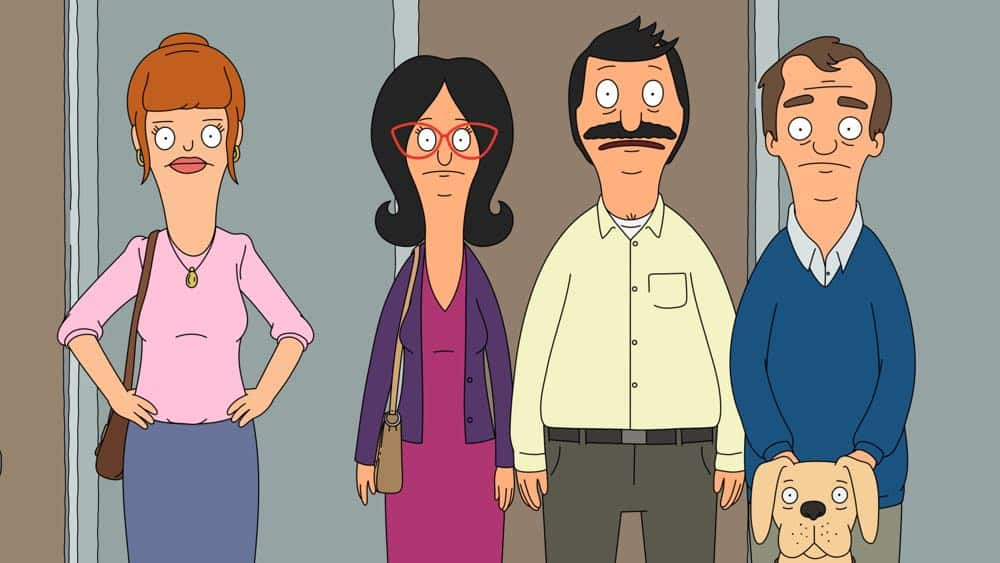 "BOB'S BURGERS: Bob and Linda's double-date plans take a disastrous turn when the couple finds themselves in an escape room in the ""The Trouble With Doubles"" episode of BOB'S BURGERS airing Sunday, Apr. 15 (7:30-8:00PM ET/PT) on FOX. BOB'S BURGERS ™ and © 2018 TCFFC ALL RIGHTS RESERVED. CR: FOX"