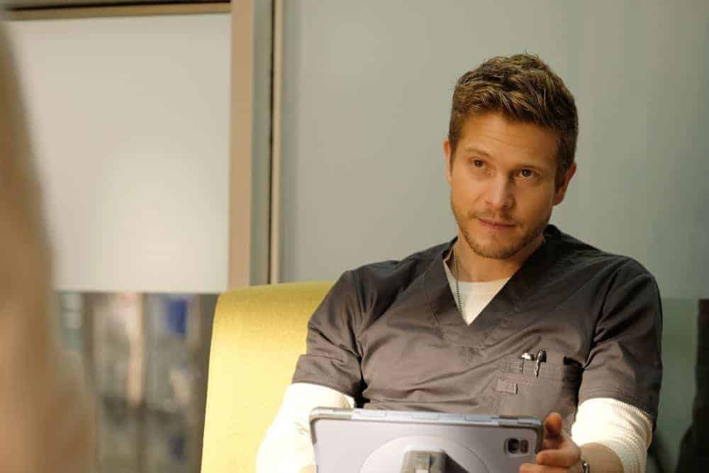 "THE RESIDENT:  Matt Czuchry in the ""Haunted"" episode of THE RESIDENT airing Monday, April 16 (9:00-10:00 PM ET/PT) on FOX.  ©2018 Fox Broadcasting Co.  Cr:  Eliza Morse/FOX"