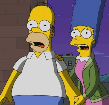 "THE SIMPSONS: Homer and Marge follow Moe after the bar closes early and discover him and his father fighting. The Simpsons, after finding out that Moe has been excommunicated from his family for years, attempt to bring them back together in the ""King Leer"" episode of THE SIMPSONS airing Sunday, April 15 (8:00-8:30 PM ET/PT) on FOX. THE SIMPSONS ™ and © 2018 TCFFC ALL RIGHTS RESERVED."