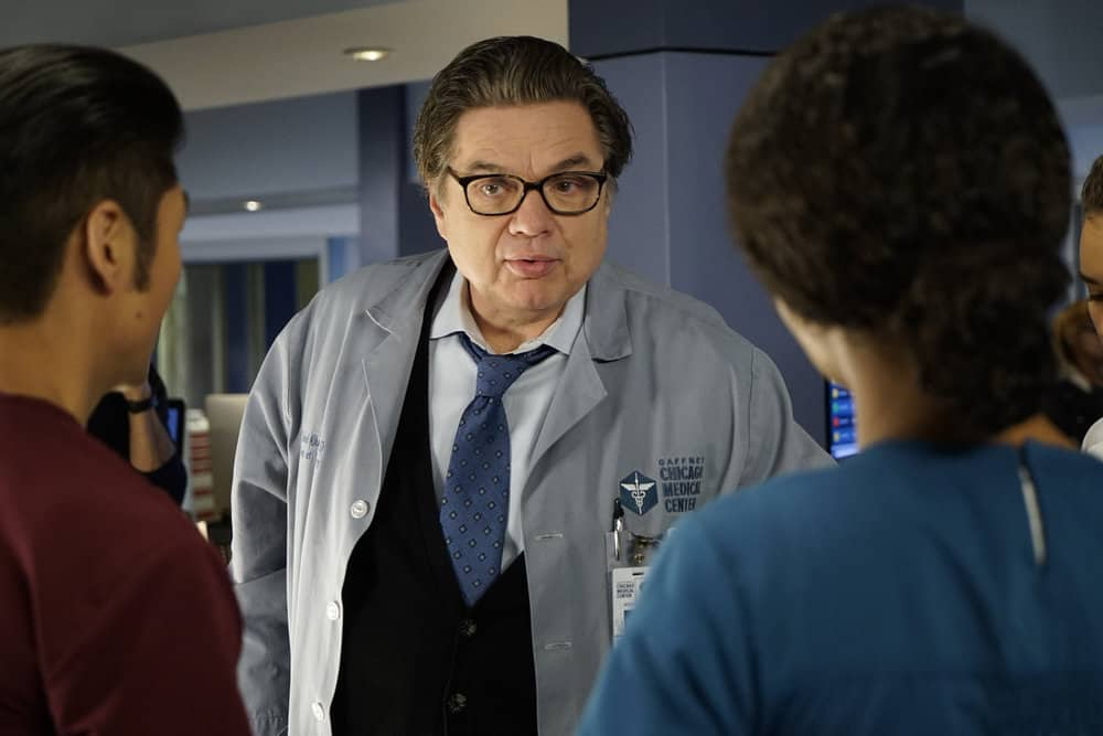 """CHICAGO MED -- """"Devil in Disguise"""" Episode 315 -- Pictured: Oliver Platt as Daniel Charles -- (Photo by: Elizabeth Sisson/NBC)"""