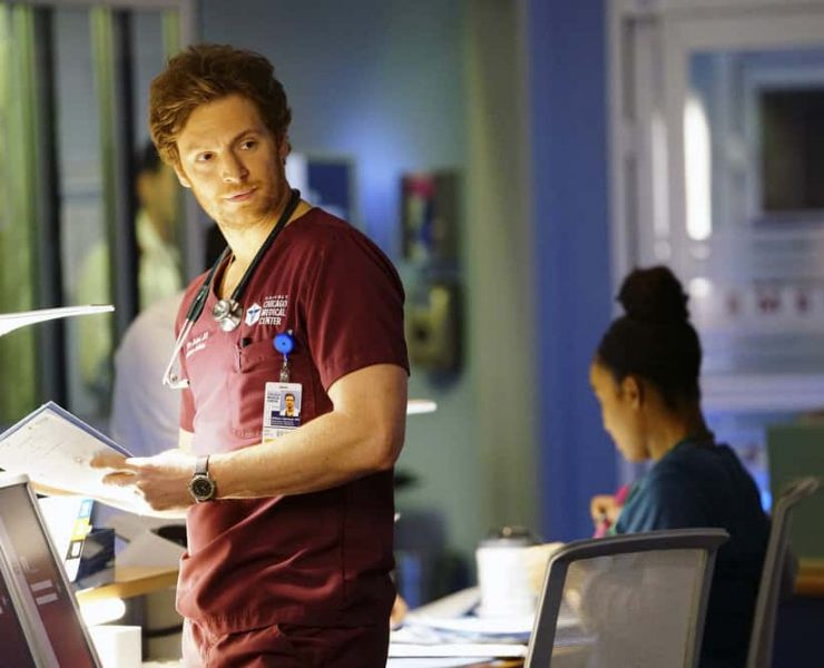 "CHICAGO MED -- ""Devil in Disguise"" Episode 315 -- Pictured: Nick Gehlfuss as Will Halstead -- (Photo by: Elizabeth Sisson/NBC)"