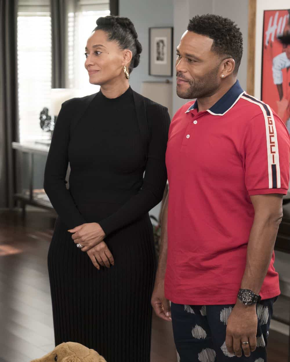 "BLACK-ISH - ""Dog Eat Dog World"" - The family is divided over the idea of getting a dog after Dre and Bow promise Jack they can get one after he gets Straight A's - and he does! Meanwhile, Bow's brother Johan is in town and he doesn't get the warm welcome he expects from Ruby, on ""black-ish,"" TUESDAY, APRIL 10 (9:00-9:30 p.m. EDT), on The ABC Television Network. (ABC/Eric McCandless) TRACEE ELLIS ROSS, ANTHONY ANDERSON"