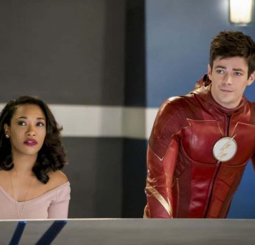 "The Flash -- ""Null and Annoyed"" -- Image Number: FLA417b_0054b.jpg -- Pictured (L-R): Candice Patton as Iris West and Grant Gustin as Barry Allen/The Flash -- Photo: Shane Harvey/The CW -- © 2018 The CW Network, LLC. All rights reserved"