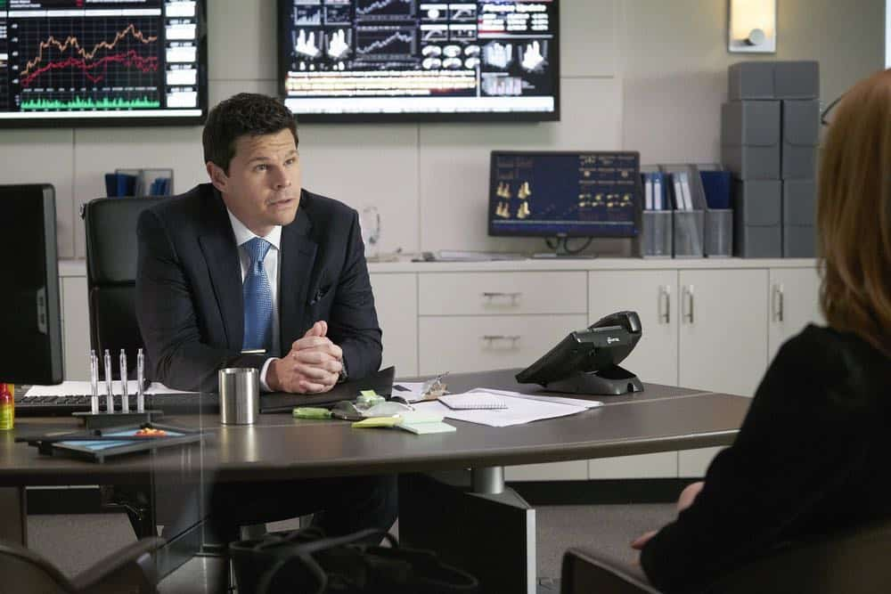 "SUITS -- ""Inevitable"" Episode 713 -- Pictured: Ian Reed Kesler as Stu Buzzini -- (Photo by: Ian Watson/USA Network)"