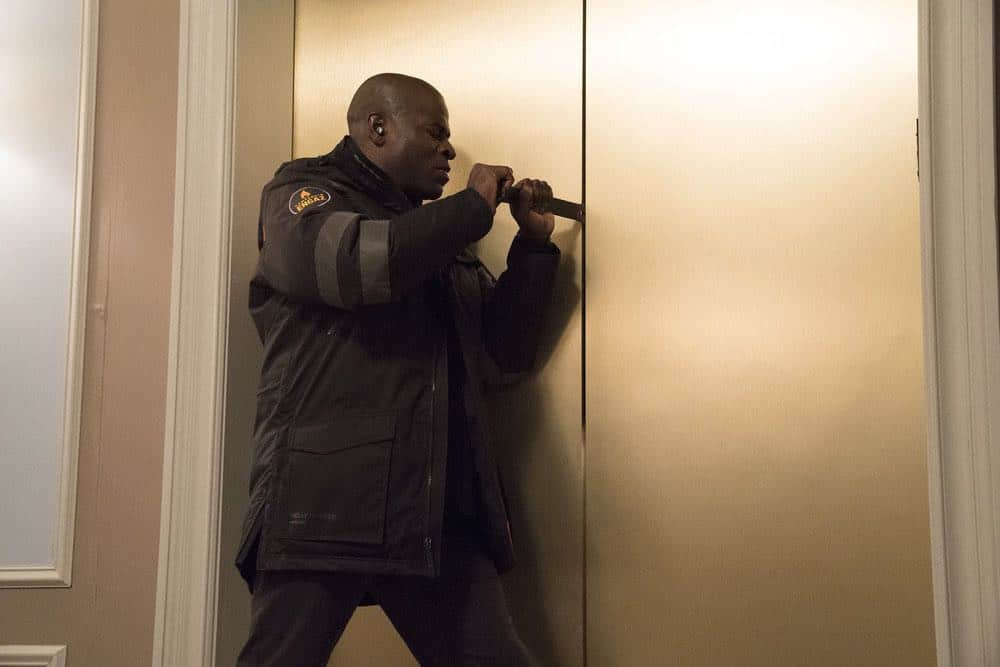 "THE BLACKLIST -- ""Zarak Mosadek (#23)"" Episode 518 -- Pictured: Hisham Tawfiq as Dembe Zuma -- (Photo by: Virginia Sherwood/NBC)"