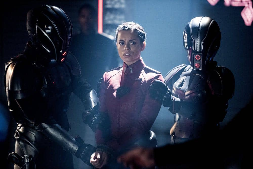 """KRYPTON -- """"The World of Rao Episode 104 -- Pictured: Georgina Campbell as Lyta-Zod -- (Photo by: Steffan Hill/Syfy)"""