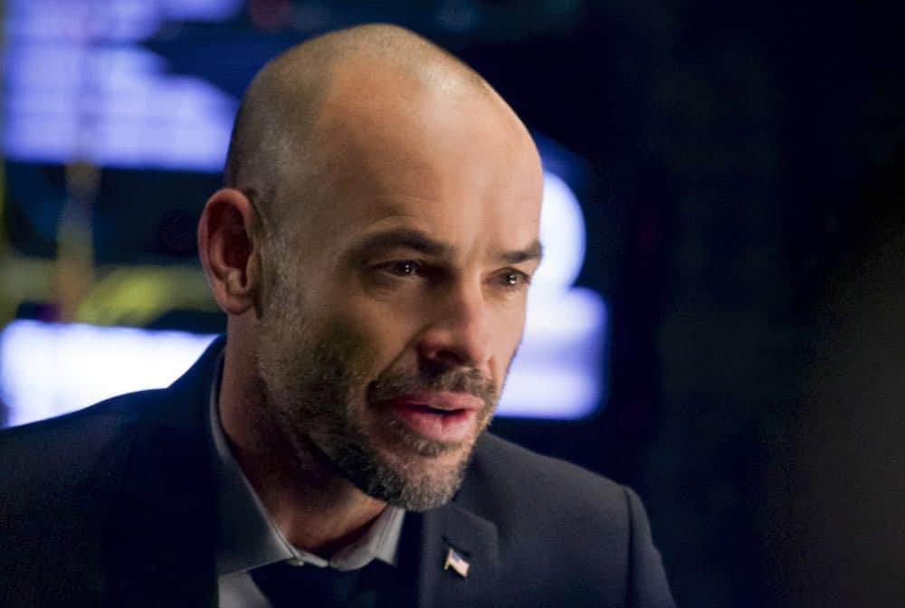 """Arrow -- """"Fundamentals"""" -- Image Number: ARR618a_0075.jpg -- Pictured: Paul Blackthorne as Quentin Lance -- Photo: Shane Harvey/The CW -- © 2018 The CW Network, LLC. All Rights Reserved."""