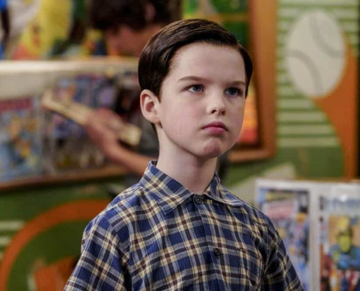 """""""A Mother, a Child, and a Blue Man's Backside"""" - Pictured: Sheldon (Iain Armitage). Mary bans Sheldon from reading a mature comic book, and Sheldon decides it's time to stop living under Mary's thumb, on YOUNG SHELDON, Thursday, April 12 (8:31-9:01 PM, ET/PT) on the CBS Television Network. Photo: Bill Inoshita/CBS ©2018 CBS Broadcasting, Inc. All Rights Reserved."""