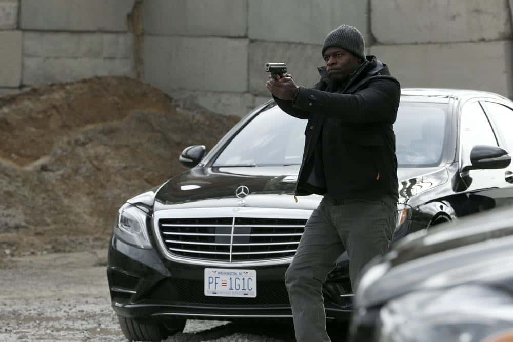 "THE BLACKLIST -- ""Ian Garvey (#13): Conclusion"" Episode 519 -- Pictured: Hisham Tawfiq as Dembe Zuma -- (Photo by: Will Hart/NBC)"