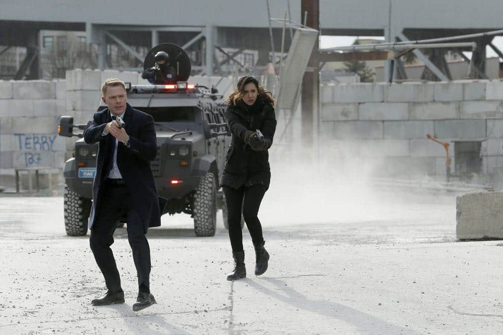 "THE BLACKLIST -- ""Ian Garvey (#13): Conclusion"" Episode 519 -- Pictured: (l-r)  Diego Klattenhoff as Donald Ressler, Mozhan Marnò as Samar Navabi -- (Photo by: Will Hart/NBC)"