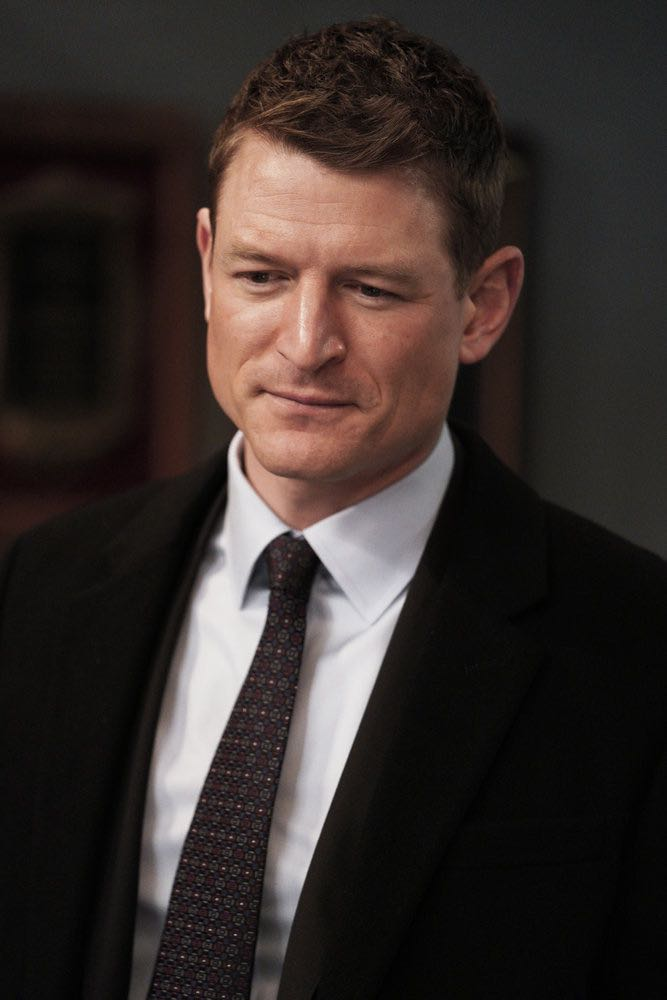 "LAW & ORDER: SPECIAL VICTIMS UNIT -- ""Sunk Cost Fallacy"" Episode 1919 -- Pictured: Philip Winchester as Peter Stone -- (Photo by:Peter Kramer/NBC)"