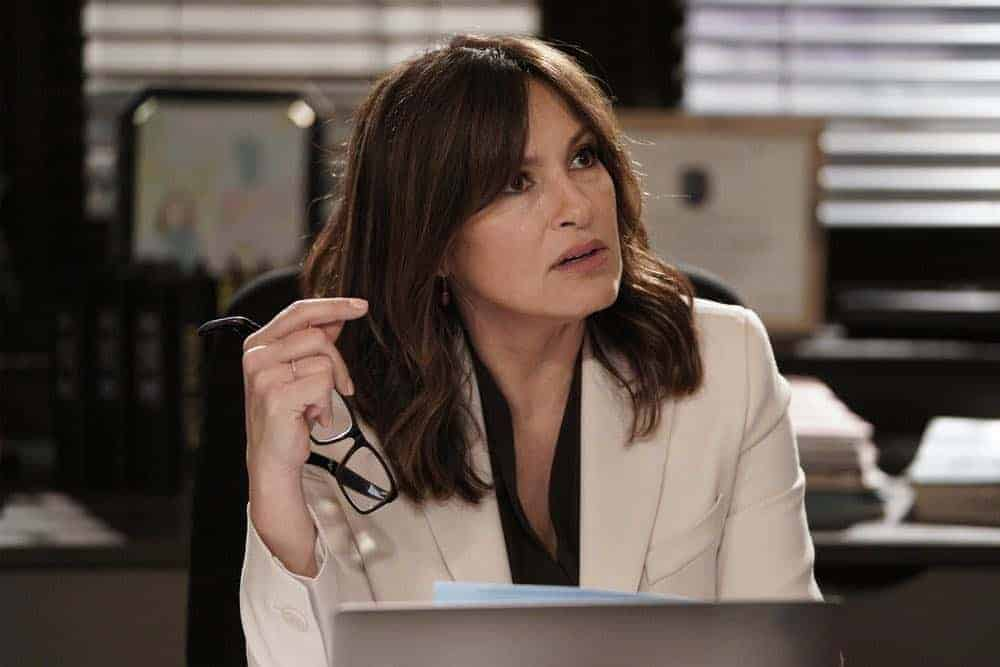 "LAW & ORDER: SPECIAL VICTIMS UNIT -- ""Sunk Cost Fallacy"" Episode 1919 -- Pictured: Mariska Hargitay as Lieutenant Olivia Benson -- (Photo by:Peter Kramer/NBC)"
