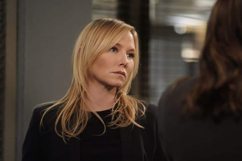 "LAW & ORDER: SPECIAL VICTIMS UNIT -- ""Sunk Cost Fallacy"" Episode 1919 -- Pictured: (l-r) Kelli Giddish as Detective Amanda Rollins -- (Photo by:Peter Kramer/NBC)"