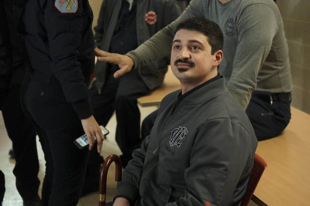 """CHICAGO FIRE -- """"When They See Us Coming"""" Episode 618 -- Pictured: Yuri Sardarov as Otis -- (Photo by: Elizabeth Morris/NBC)"""