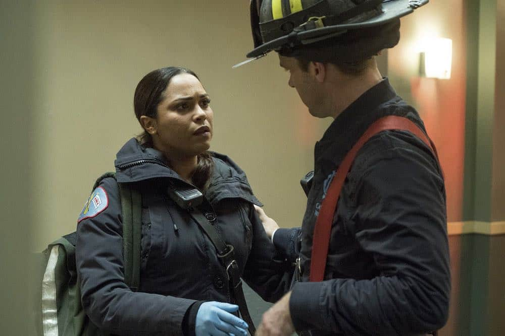 """CHICAGO FIRE -- """"When They See Us Coming"""" Episode 618 -- Pictured: Monica Raymund as Gabriela Dawson -- (Photo by: Elizabeth Morris/NBC)"""
