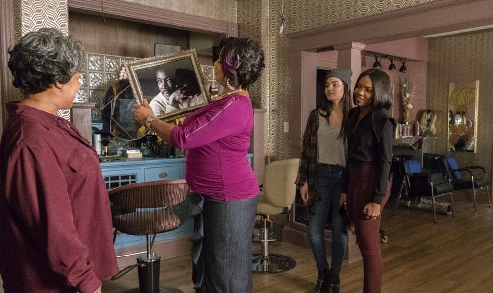 "STAR: L-R: Guest star Juanita Jennings, Queen Latifah, Brittany O'Grady and Ryan Destiny in the ""Forward (E)Motion"" episode of STAR airing Wednesday, April 18 (9:00-10:00 PM ET/PT) on FOX. ©2018 Fox Broadcasting Co. CR: Wilford Harewood/FOX"