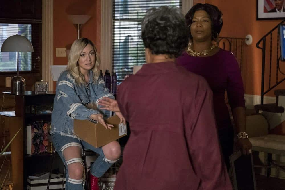 "STAR: L-R: Jude Demorest, guest star Juanita Jennings and Queen Latifah in the ""Forward (E)Motion"" episode of STAR airing Wednesday, April 18 (9:00-10:00 PM ET/PT) on FOX. ©2018 Fox Broadcasting Co. CR: Wilford Harewood/FOX"