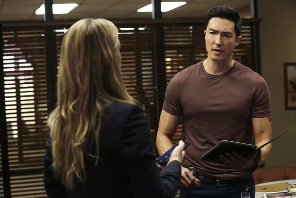 """Mixed Signals"" -- The BAU is called to Taos, N.M. to investigate an UnSub who is targeting his victims' temporal lobes, on the first episode of the double-episode 13th season finale of CRIMINAL MINDS, Wednesday, April 18 (9:00-10:00 PM, ET/PT) on the CBS Television Network.  Pictured: Daniel Henney (Matt Simmons)   Photo: Michael Yarish/CBS ©2018 CBS Broadcasting, Inc. All Rights Reserved"