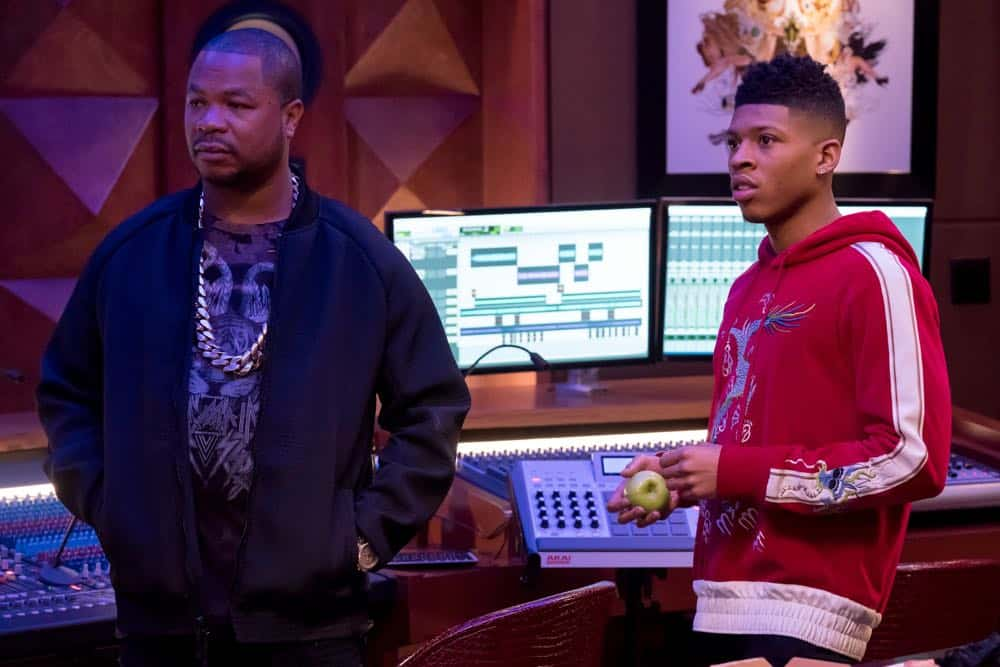 "EMPIRE: L-R: Guest star Xzibit and Bryshere Gray in the ""Of Hardiness Is Mother"" episode of EMPIRE airing Wednesday, April 18 (8:00-9:00 PM ET/PT) on FOX. ©2018 Fox Broadcasting Co. CR: Chuck Hodes/FOX"
