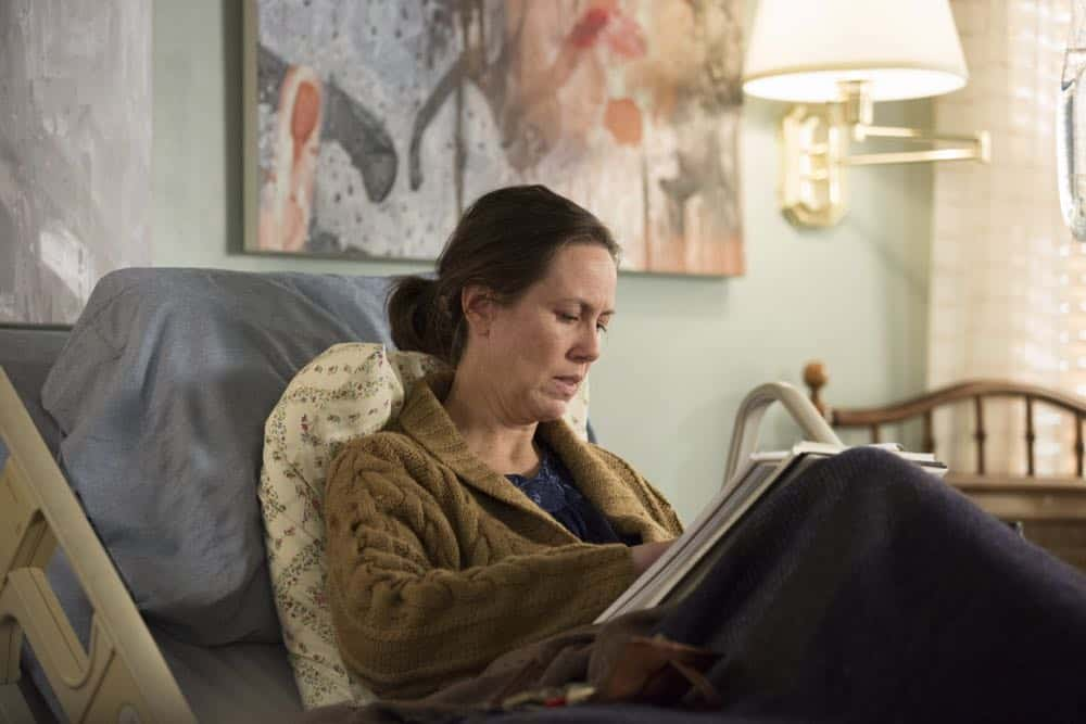 "THE AMERICANS -- ""Mr. and Mrs. Teacup"" -- Season 6, Episode 4 (Airs Wednesday, April 18, 10:00 pm/ep) -- Pictured: Miriam Shor as Erica. CR: Eric Liebowitz/FX"