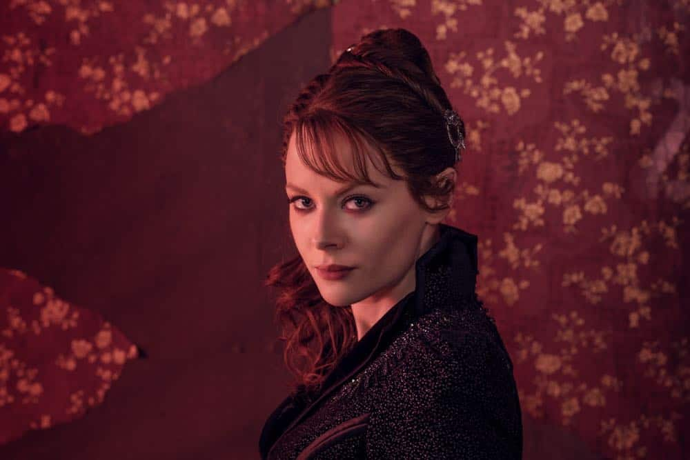 Emily Beecham as The Widow - Into the Badlands _ Season 3, Gallery - Photo Credit: Alan Clarke/AMC