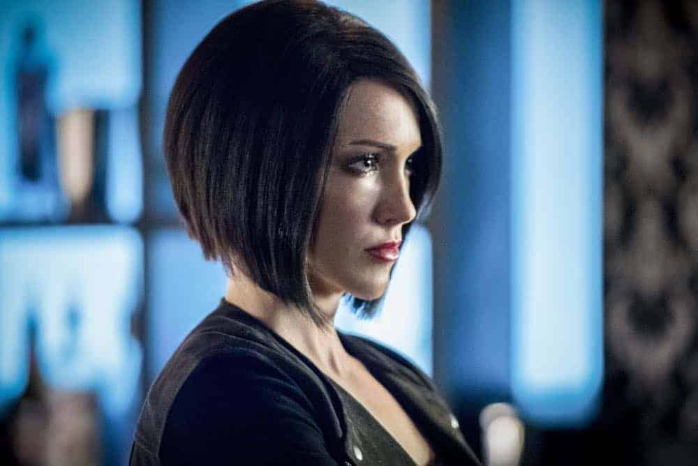"""Arrow -- """"The Dragon"""" -- Image Number: AR619a_0136.jpg -- Pictured: Katie Cassidy as Laurel/Black Siren -- Photo: Dean Buscher/The CW -- © 2018 The CW Network, LLC. All rights reserved."""
