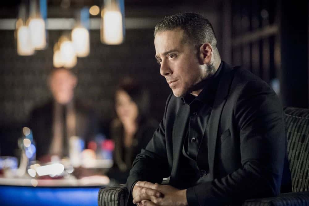"Arrow -- ""The Dragon"" -- Image Number: AR619a_0162.jpg -- Pictured: Kirk Acevedo as Ricardo Diaz -- Photo: Dean Buscher/The CW -- © 2018 The CW Network, LLC. All rights reserved."