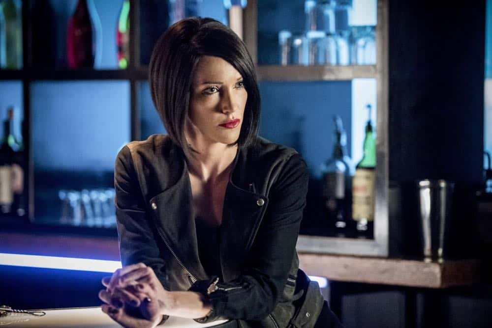 """Arrow -- """"The Dragon"""" -- Image Number: AR619a_0197.jpg -- Pictured: Katie Cassidy as Laurel/Black Siren -- Photo: Dean Buscher/The CW -- © 2018 The CW Network, LLC. All rights reserved."""