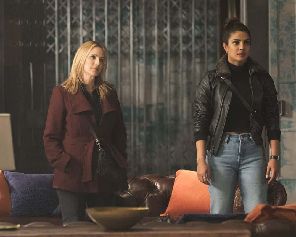 """QUANTICO - """"The Conscience Code"""" - It's been three years since American hero Alex Parrish has had to navigate the dangerous waters of the Central Intelligence Agency and put her life on the line for her country. She has been living a peaceful, anonymous life somewhere in Italy. However, Alex is forced to abandon this idyllic existence when Ryan persuades her to help him rescue Shelby from a notorious international arms dealer known only as The Widow, who is holding her hostage - and in exchange for her release she demands something that only Alex can provide, when """"Quantico"""" premieres for its third season, THURSDAY, APRIL 26 (10:00-11:00 p.m. EDT), on The ABC Television Network. (ABC/Giovanni Rufino) MARLEE MATLIN, PRIYANKA CHOPRA"""