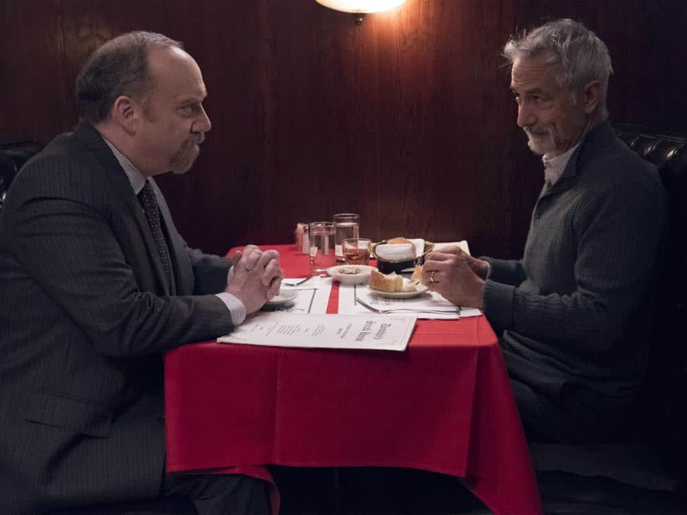 "Paul Giamatti as Chuck Rhoades and David Strathairn as Black Jack Foley in BILLIONS (Season 3, Episode 04, ""Hell of a Ride""). - Photo: Jeff Neumann/SHOWTIME - Photo ID: BILLIONS_304_1085.R.jpg"