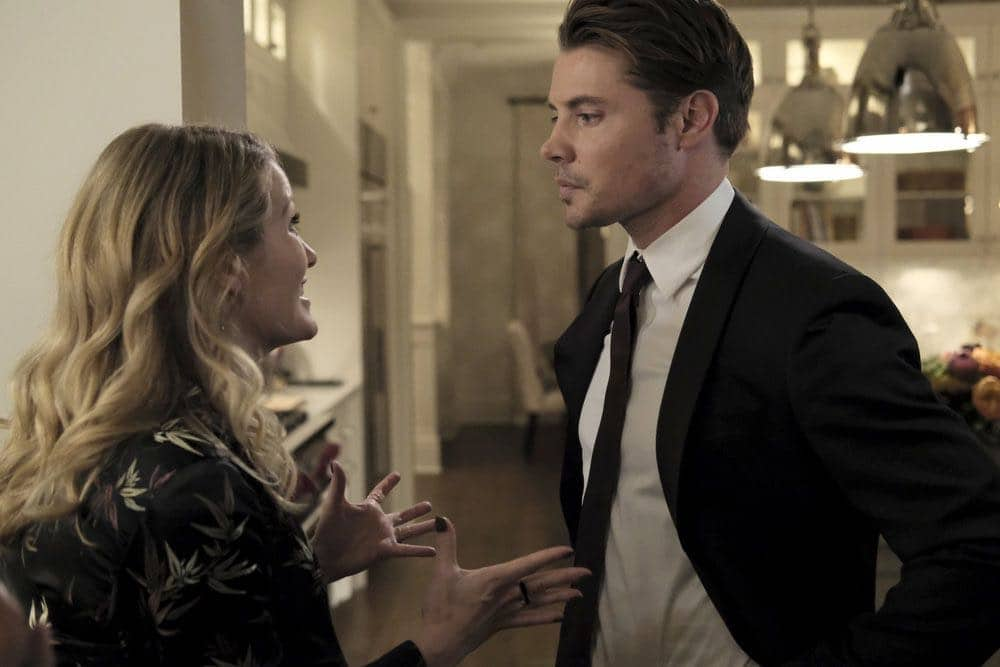 "THE ARRANGEMENT -- ""The Breakup"" Episode 206 -- Pictured: (l-r) Ashley Hinshaw as Lisbeth Graves, Josh Henderson as Kyle West -- (Photo by: Eike Schroter/E! Entertainment)"