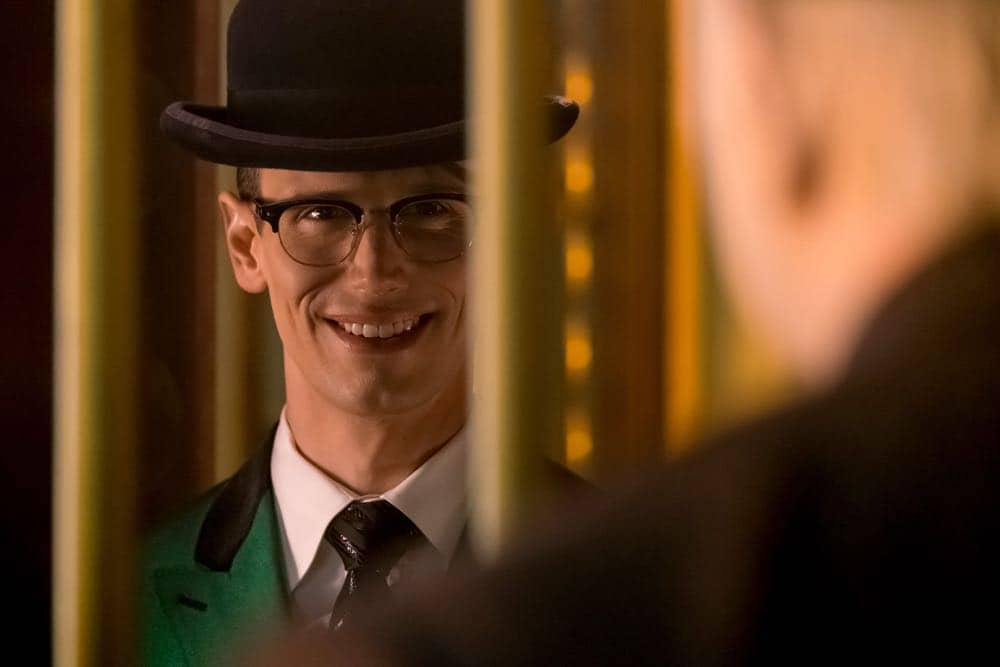 "GOTHAM: Cory Michael Smith in the ""A Dark Knight: To Our Deaths and Beyond"" episode of GOTHAM airing Thursday, April 19 (8:00-9:00 PM ET/PT) on FOX. ©2018 Fox Broadcasting Co. Cr: FOX"