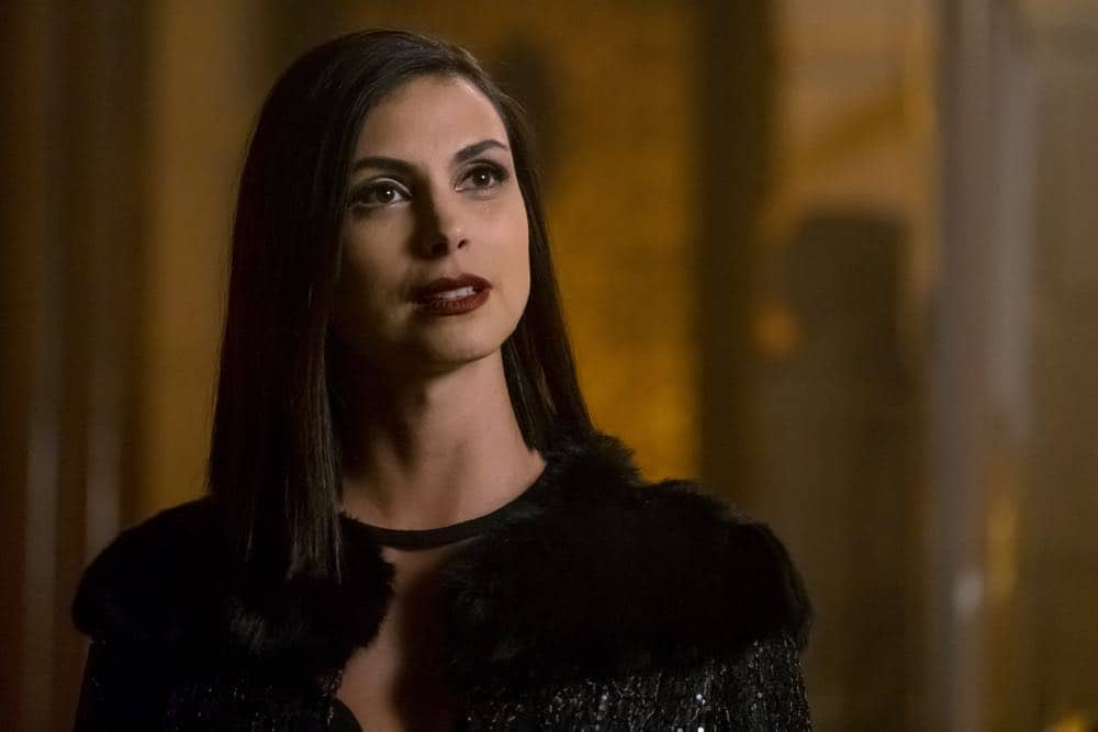 "GOTHAM: Morena Baccarin in the ""A Dark Knight: To Our Deaths and Beyond"" episode of GOTHAM airing Thursday, April 19 (8:00-9:00 PM ET/PT) on FOX. ©2018 Fox Broadcasting Co. Cr: FOX"