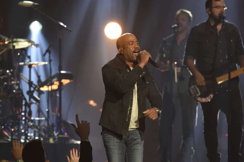 Darius Rucker performs at the 53RD ACADEMY OF COUNTRY MUSIC AWARDS, live from the MGM Grand Garden Arena in Las Vegas Sunday, April 15, 2018 at 8:00 PM ET/PT on CBS.  Photo: Michele Crowe/CBS ©2018 CBS Broadcasting, Inc. All Rights Reserved