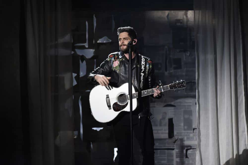 Thomas Rhett performs at the 53RD ACADEMY OF COUNTRY MUSIC AWARDS, live from the MGM Grand Garden Arena in Las Vegas Sunday, April 15, 2018 at 8:00 PM ET/PT on CBS.  Photo: Michele Crowe/CBS ©2018 CBS Broadcasting, Inc. All Rights Reserved
