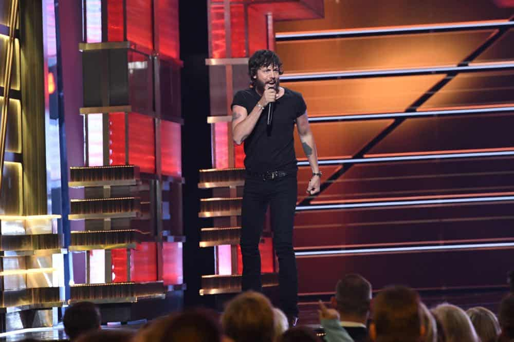 Chris Janson performs at the 53RD ACADEMY OF COUNTRY MUSIC AWARDS, live from the MGM Grand Garden Arena in Las Vegas Sunday, April 15, 2018 at 8:00 PM ET/PT on CBS.  Photo: Michele Crowe/CBS ©2018 CBS Broadcasting, Inc. All Rights Reserved
