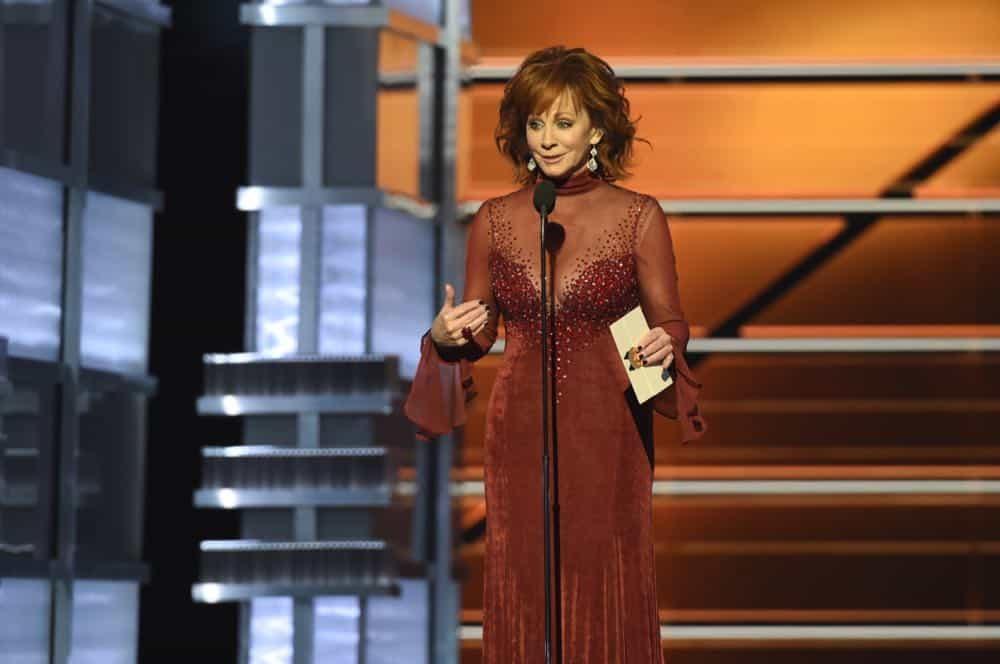 Reba McEntire hosts the 53RD ACADEMY OF COUNTRY MUSIC AWARDS, live from the MGM Grand Garden Arena in Las Vegas Sunday, April 15, 2018 at 8:00 PM ET/PT on CBS.  Photo: Michele Crowe/CBS ©2018 CBS Broadcasting, Inc. All Rights Reserved